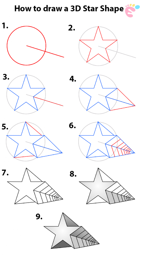 How to draw a 3D Star Shape