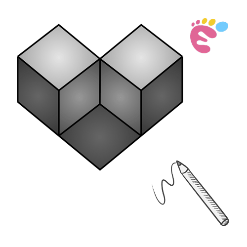 How to draw a 3D Geometry Shape