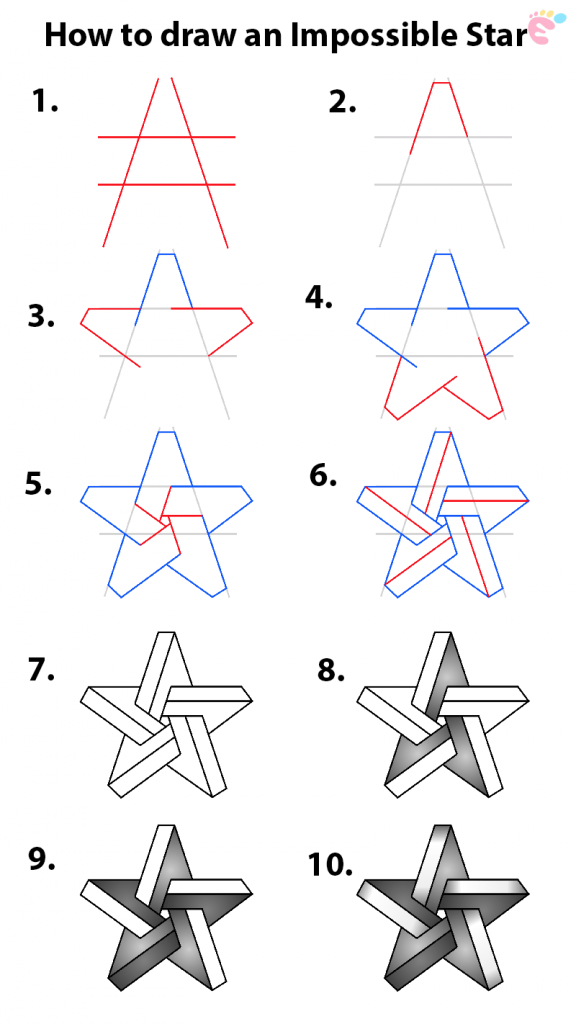 How to draw an Impossible Star 1