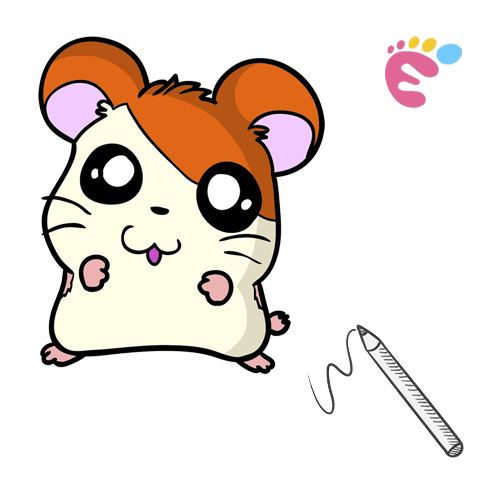 How to draw an Adorable Hamster