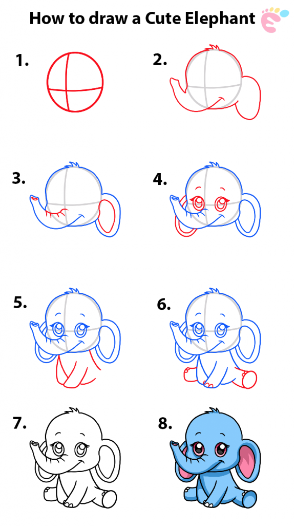How to draw an Elephant 1