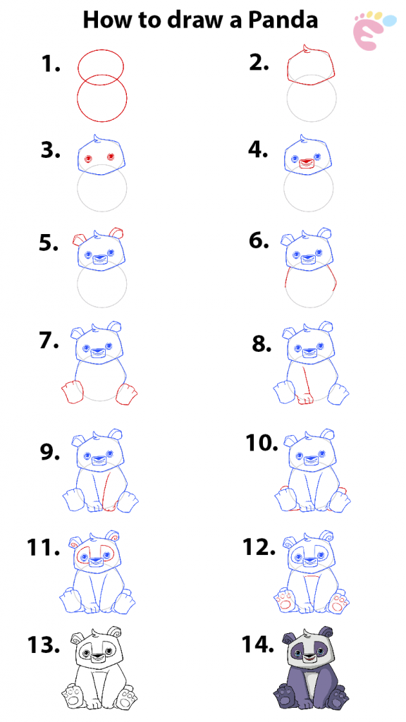 How to draw a Panda 1