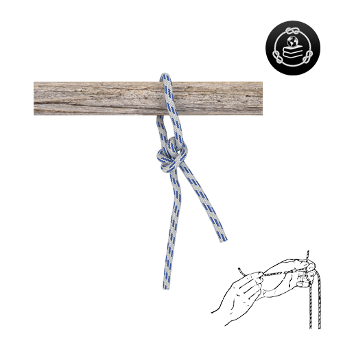 How to tie a Buntline Hitch knot
