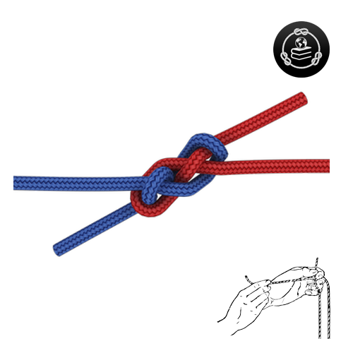 How to tie a Carrick Bend knot