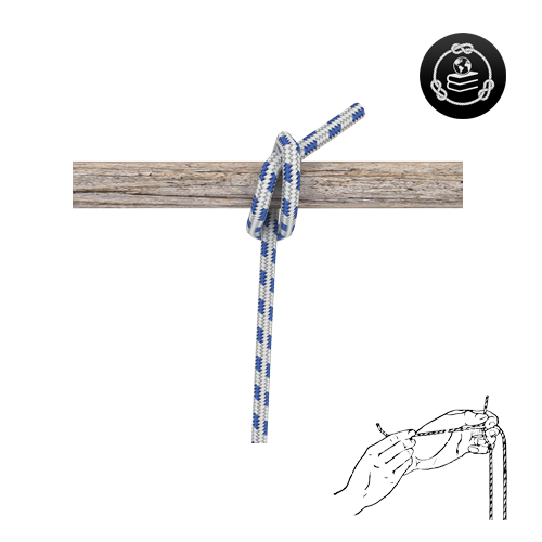 How to tie a Self-tightening Half Hitch knot