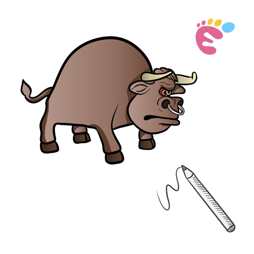 How to draw a Bull drawing icon