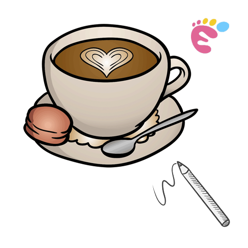 How to draw a cup of Coffee drawing icon