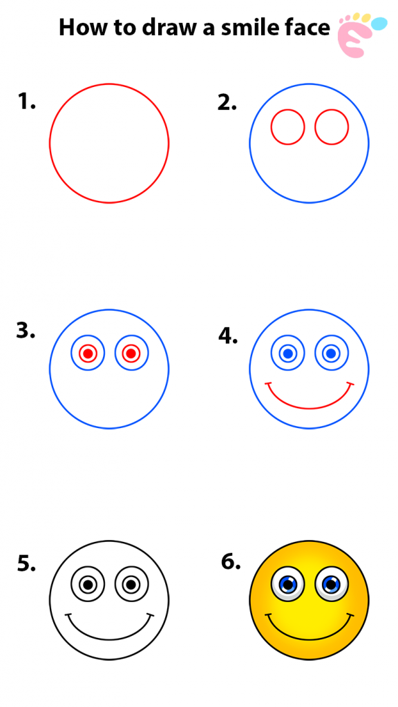 How to draw a Smile drawing