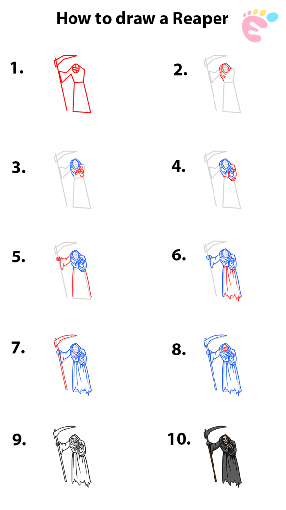 How to draw a Reaper drawing