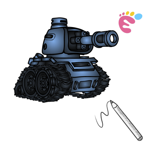 How to draw a Tank drawing icon