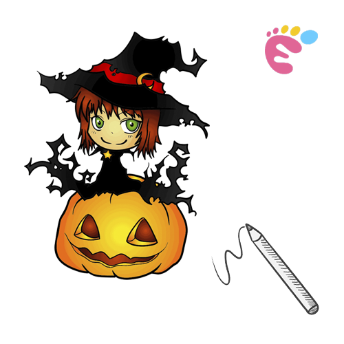 How to draw a Witch drawing icon