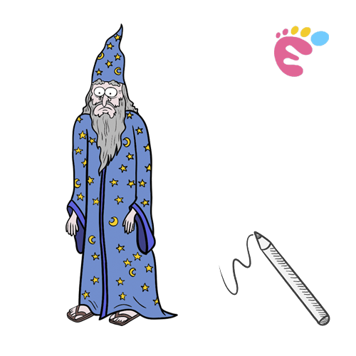 How to draw a Wizard drawing icon