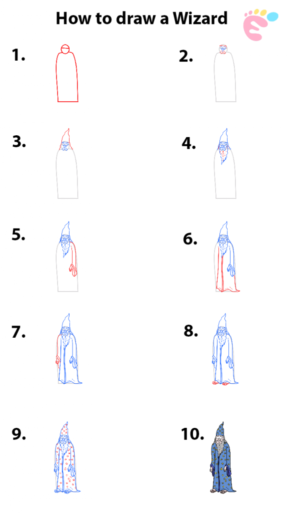 How to draw a Wizard drawing