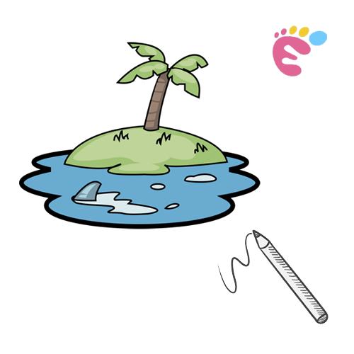 How to draw an Island drawing icon